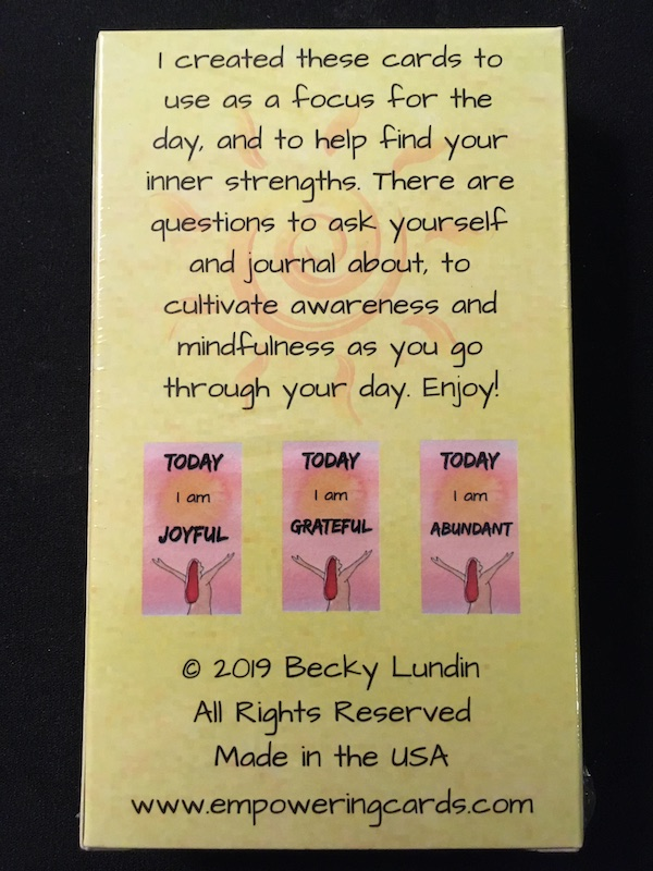 Everyday Enlightenment Card Deck Back